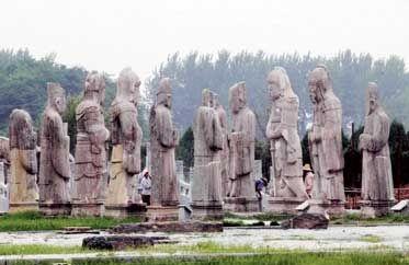 江苏盱眙,明祖陵,1986年安妮·帕鲁丹摄。